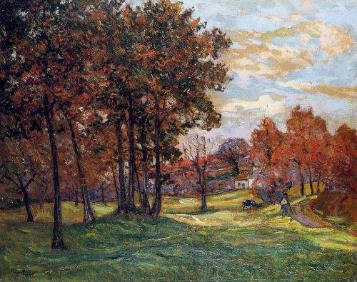 Autumn Landscape at Goulazon, Finistere by Maxime Maufra