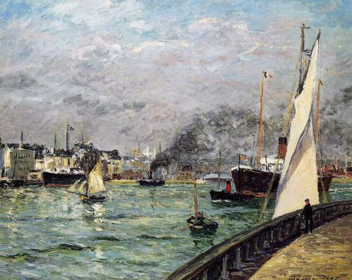 Departure of a Cargo Ship, Le Havre by Maxime Maufra