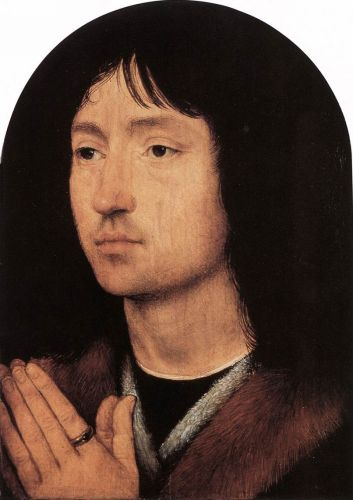 Portrait of a Young Man at Prayer by Hans Memling