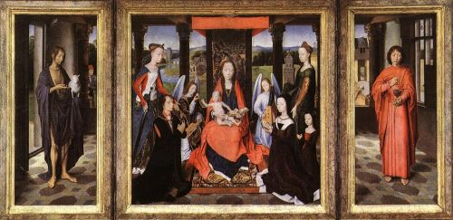 The Donne Triptych by Hans Memling