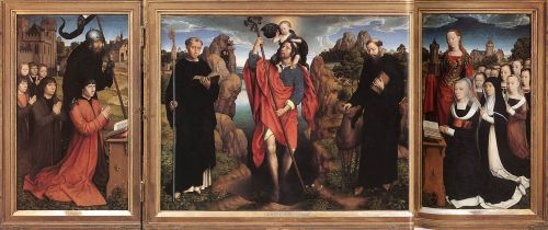 Triptych of the Family Moreel by Hans Memling