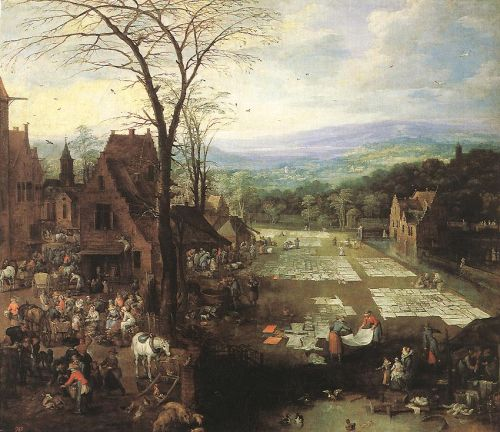 Flemish Market and Washing Place by Joos de Momper