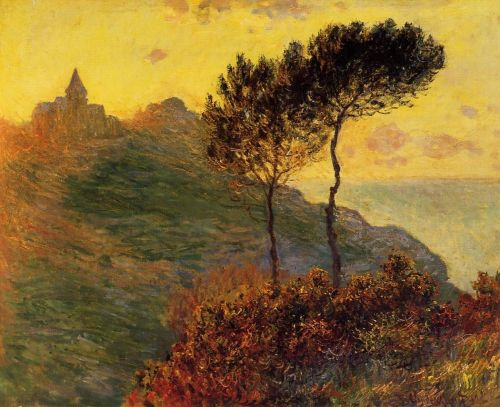 Church at Varengeville, against the Sunset, 1882 by Claude Monet