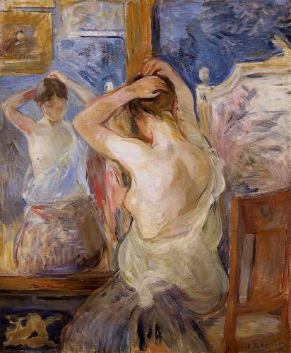 Before the Mirror, 1890 by Berthe Morisot