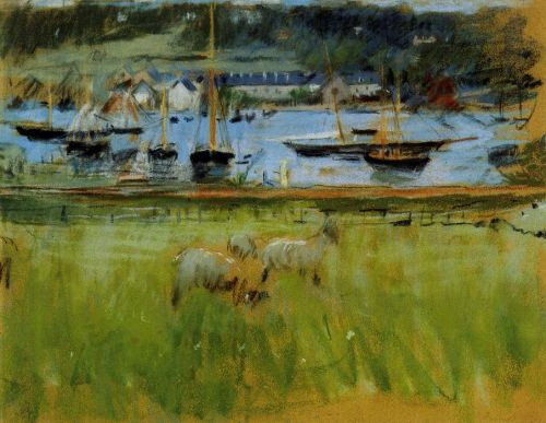Harbor in the Port of Fecamp, 1874 by Berthe Morisot