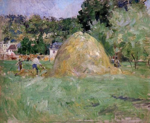 Haymakers at Bougival, 1883 by Berthe Morisot
