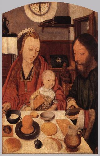The Holy Family at Table by Jan Mostaert