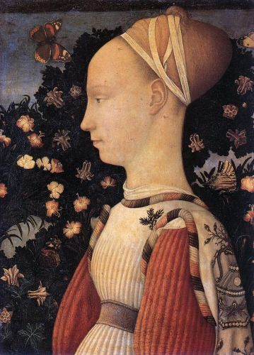 Portrait of a Princess of the House of Este by Antonio Pisanello