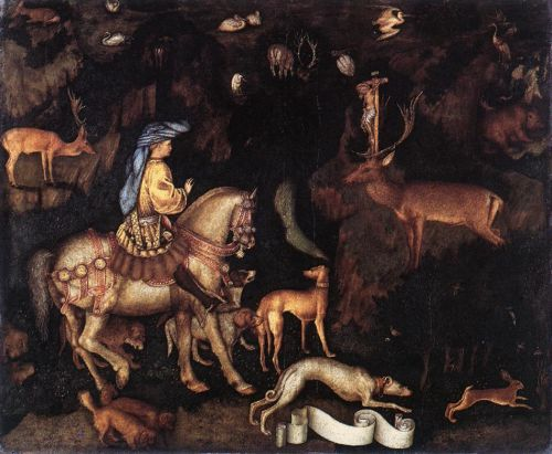 Vision of St Eustace by Antonio Pisanello