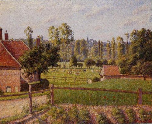 A Meadow in Eragny by Camille Pissarro