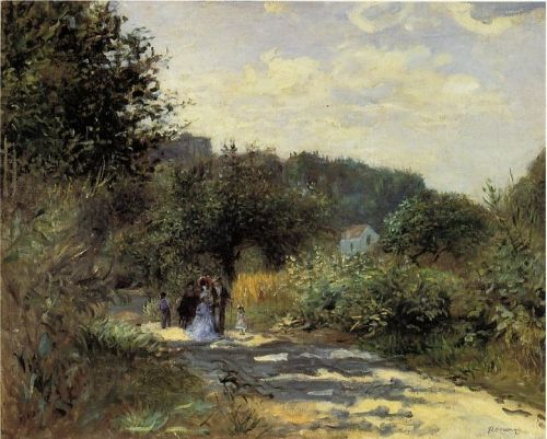 A Road in Louveciennes by Camille Pissarro