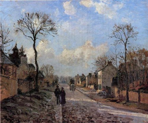 A Road in Louveciennes, 1872 by Camille Pissarro