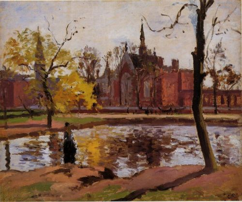 Dulwich College, London, 1871 by Camille Pissarro