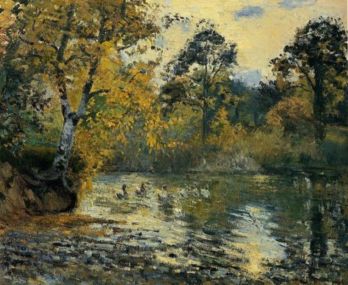 The Pond at Montfoucault, 1874 by Camille Pissarro