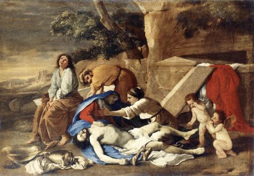 Lamentation over the Body of Christ by Nicolas Poussin