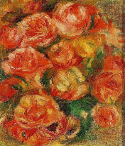 A Bowlful of Roses by Pierre-Auguste Renoir