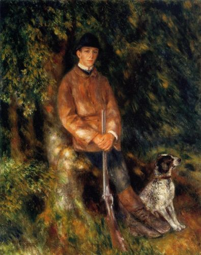 Alfred Berard and His Dog, 1881 by Pierre-Auguste Renoir