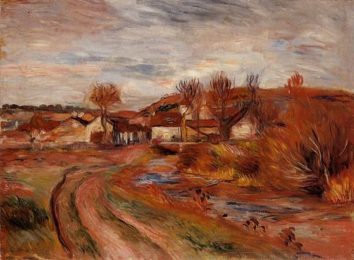 Landscape in Normandy, 1895 by Pierre-Auguste Renoir