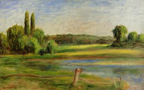 Landscape with Fence, 1910 by Pierre-Auguste Renoir