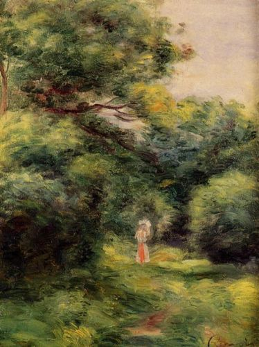 Lane in the Woods, Woman with a Child in Her Arms, 1900 by Pierre-Auguste Renoir