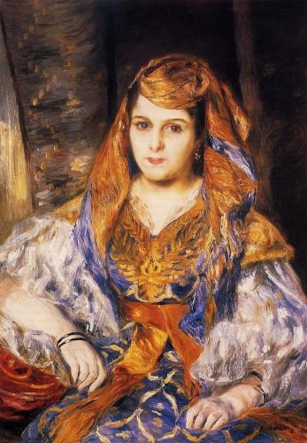 Madame Stora in Algerian Dress, 1870 by Pierre-Auguste Renoir