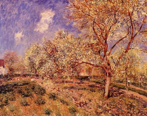 Spring at Veneux, 1880 by Alfred Sisley