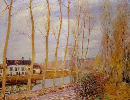 The Loing Canal at Moret, 1892 by Alfred Sisley