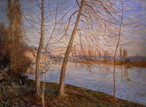 Winter Morning, Veneux, 1881 by Alfred Sisley