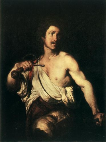 David with the Head of Goliath by Bernardo Strozzi