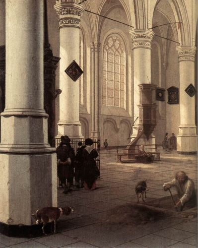 The New Church at Delft by Hendrick van Vliet