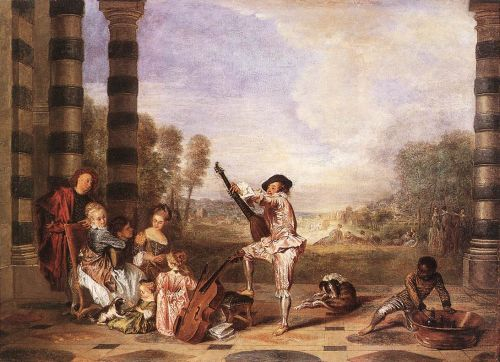 The Music Party (Les Charmes de la Vie), 1718 by Jean-Antoine Watteau