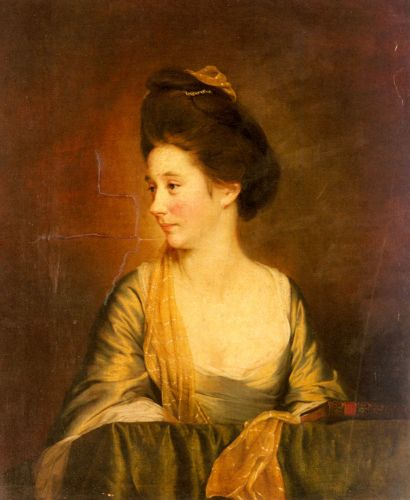Portrait Of Susannah Leigh by Joseph Wright